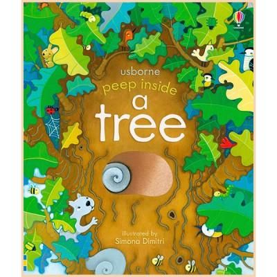 Детская книга Usborne Peep Inside a Tree (с окошками)