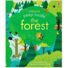 Детская книга Usborne Peep Inside the Forest (с окошками)