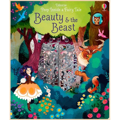 Детская книга Usborne Peep Inside a Fairy Tale Beauty and the Beast (Красавица и Чудовище)