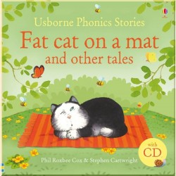 Детский сборник рассказов Usborne Fat Cat on a Mat and Other Tales with CD