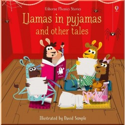 Детский сборник рассказов Usborne Llamas in Pyjamas and Other Tales With CD