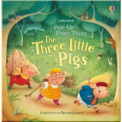 Детская книга Usborne Pop-up Three Little Pigs (Три Поросенка)