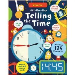 Детская обучающая книга Usborne Lift-the-Flap Telling the Time (с вкладышами)