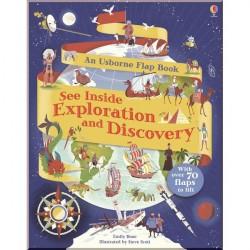 Детская познавательная книга Usborne See Inside Exploration and Discovery