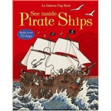 Детская познавательная книга c окошками Usborne See Inside Pirate Ships