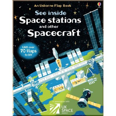 Детская познавательная книга Usborne See Inside Space Stations and Other Spacecraft
