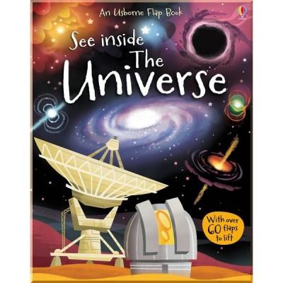 Детская познавательная книга c окошками Usborne See Inside the Universe