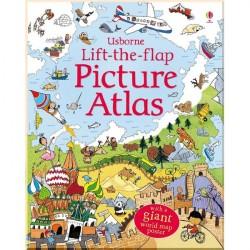 Детская познавательная книга Usborne See Inside Lift-the-flap Picture Atlas