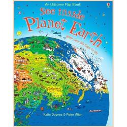 Детская познавательная книга Usborne See Inside Planet Earth