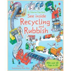 Детская познавательная книга Usborne See Inside Recycling and Rubbish