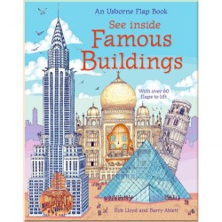 Детская познавательная книга c окошками Usborne See Inside Famous Buildings