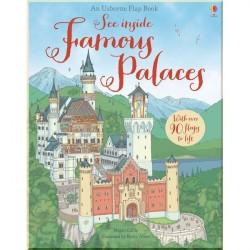 Детская познавательная книга c окошками Usborne See Inside Famous Palaces