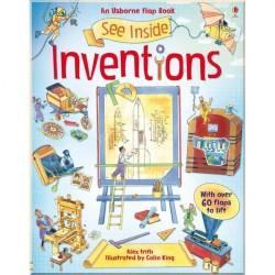 Детская познавательная книга c окошками Usborne See Inside Inventions