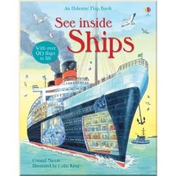 Детская познавательная книга c окошками Usborne See Inside Ships