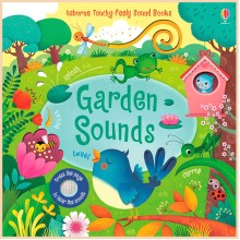 Детская звуковая книга Usborne Garden Sounds Books (Touchy-Feely Books)