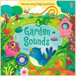 Детская звуковая книга Usborne Garden Sounds Books (Touchy-Feely Books)