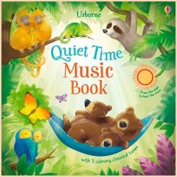Детская книга со звуковыми эффектами Usborne Quiet Time Music Book