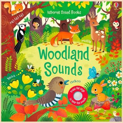 Детская звуковая книга Usborne Woodland Sounds Books (Noisy Books)