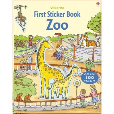 Детская книга со стикерами Usborne First Sticker Book Zoo