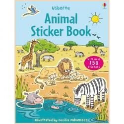 Детская книга со стикерами Usborne Animal Sticker Book
