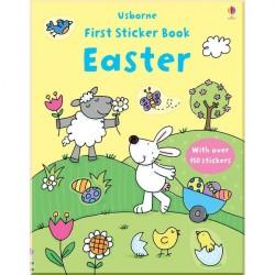 Детская книга со стикерами Usborne First Sticker Books Easter