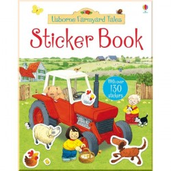 Детская книга со стикерами Usborne Farmyard Tales Sticker Learning Book