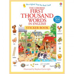 Детская книга Usborne First Thousand Words in English Sticker Book