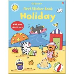 Детская книга со стикерами Usborne First Sticker Book: Holiday