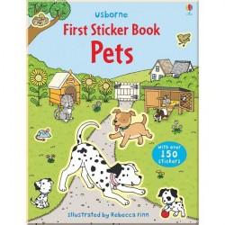 Детская книга со стикерами Usborne First Sticker Book: Pets