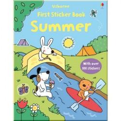 Детская книга со стикерами Usborne First Sticker Book: Summer