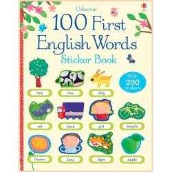 Детская книга Usborne 100 First English Words Sticker Book