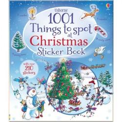 Детская книга со стикерами Usborne 1001 things to spot at Christmas sticker book