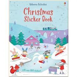 Детская книга со стикерами Usborne Christmas Sticker Book