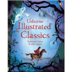 Детская книга Usborne Illustrated Classics. Robinson Crusoe and Other Stories