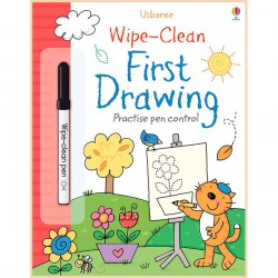 Детская книга с маркером Usborne Wipe-Clean First Drawing