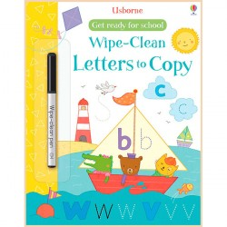 Детская книга с маркером Usborne Wipe-Clean Get Ready for School: Letters to Copy