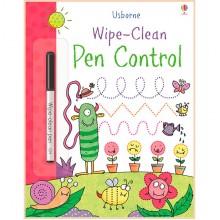 Детская книга с маркером Usborne Wipe-Clean Pen Control