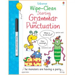 Детская книга с маркером Usborne Wipe-Clean Starting Grammar and Punctuation