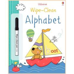 Детская книга с маркером Usborne Wipe-Сlean Аlphabet (алфавит)