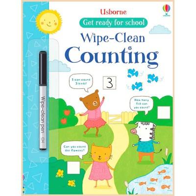 Детская книга с маркером Usborne Wipe-clean Counting (Get Ready For School Wipe-clean Books)