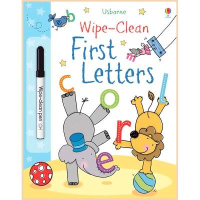 Детская книга с маркером Usborne Wipe-Сlean First Letters