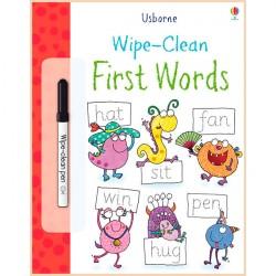 Детская книга с маркером Usborne Wipe-Сlean First Words