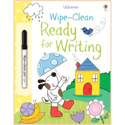 Детская книга с маркером Usborne Wipe-Clean Ready for Writing (Usborne Wipe Clean Books)