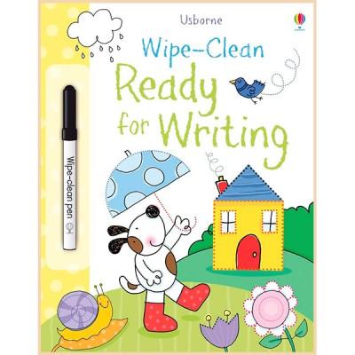 Детская книга с маркером Usborne Wipe-Clean Ready for Writing (Usborne Wipe Clean Books)