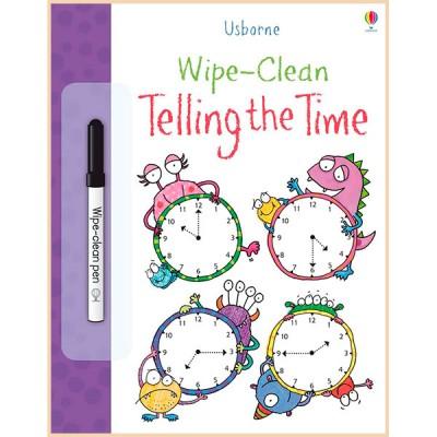 Детская книга с маркером Usborne Wipe-clean Telling the Time
