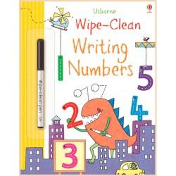 Детская книга с маркером Usborne Wipe-Clean Writing Numbers