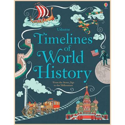 Детская книга Usborne Timelines of World History