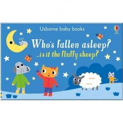 Детская книга Usborne Who's Fallen Asleep? (Кто засыпает?)