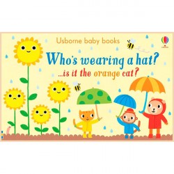 Детская книга Usborne Who's Wearing a Hat? (Кто носит шляпу?)