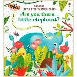 Детская книга с тактильными ощущениями Usborne Are You There Little Elephant?